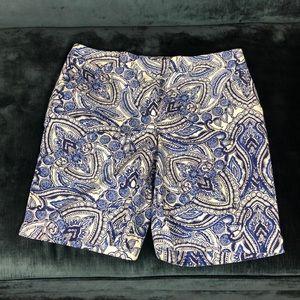 Talbots blue Paisley short's